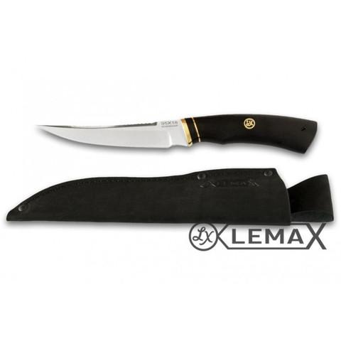 Нож Рыбацкий купить в интернет-магазине из нержавеющей стали. Нож рыбацкий Lemax 95Х18, чёрный граб