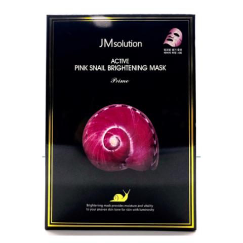 JMsolution Active Pink Snail Brightening Mask Prime ультратонкая маска с муцином улитки