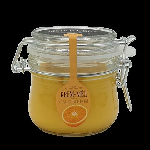 Крем-мёд с Апельсином бугельная банка МЕДОЛЮБОВ, 250 мл