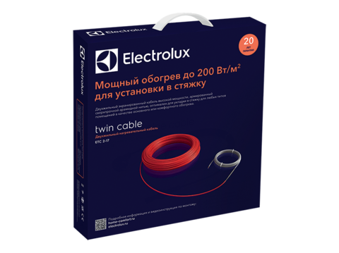 Комплект теплого пола (кабель) Electrolux ETC 2-17-500