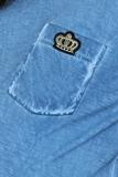Футболка для беременных 09559 голубой