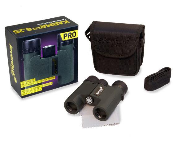 Комплект упаковки бинокля Levenhuk Karma Pro 8 25