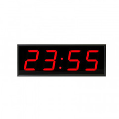 Часы электронные 410-EURO-R, цвет свечения красный 0,5Кд, 440x160x75мм