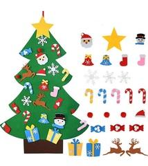 Фетровая елка на стену с игрушками