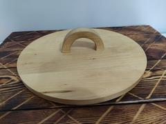 Деревянная крышка для узбекского чугунного казана 10л