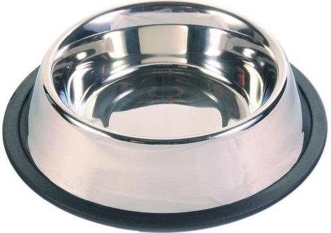 TRIXIE 24851 Миска д/собак на резинке, металл 0,45л*ф14см