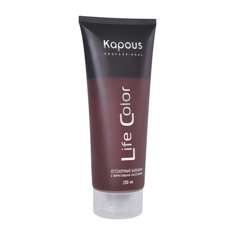 Оттеночный бальзам для волос гранатовый красный Life color Kapous Professional 200 мл