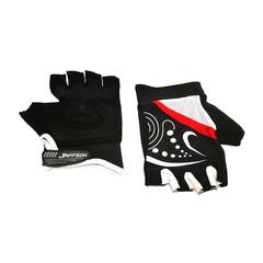 Велоперчатки JAFFSON SCG 47-06 (чёрный/красный)