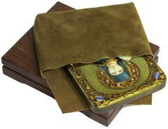 Инкрустированная икона Святая преподобная Ангелина Сербская 20х15см на натуральном дереве, в подарочной коробке