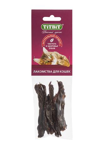 Titbit филе говяжье (соломка) для кошек - мягкая упаковка