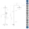 Душевая система со смесителем BLAUTHERM 937802RM250 - фото №2