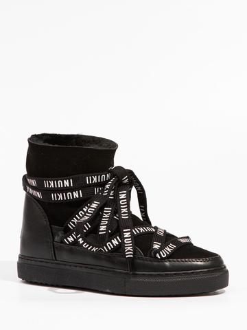 Высокие комбинированные кеды INUIKII 70208-5 Sneaker Classic Inuikii Laces black на меху