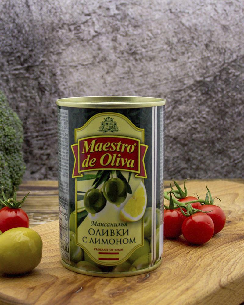 Оливки Maestro de Oliva с Лимоном 300 гр.