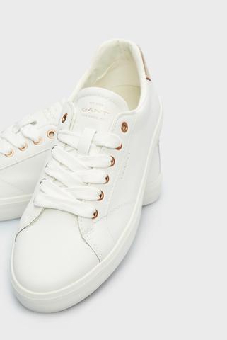 Женские белые кожаные сникеры SEAVILLE Gant