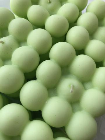 Свеча КУБ зеленый 6х6