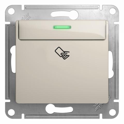 Карточный выключатель. Цвет Молочный. Schneider Electric Glossa. GSL000969