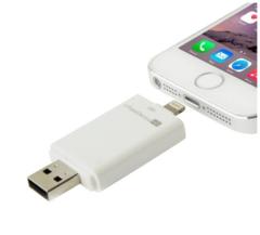 Флешка для Iphone/Ipad на 128 Gb со сменной микро SD