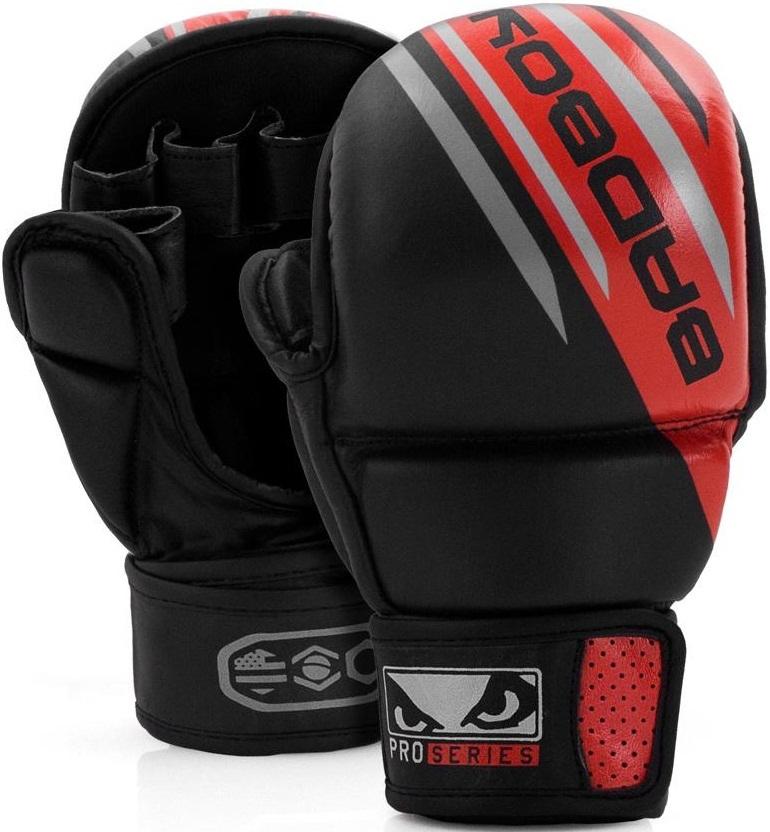 ММА перчатки Перчатки для MMA Bad Boy Pro Series Advanced Safety Gloves-Black/Red 1.jpg
