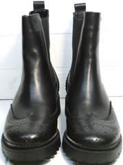 Стильные женские ботинки Jina 7113 Leather Black