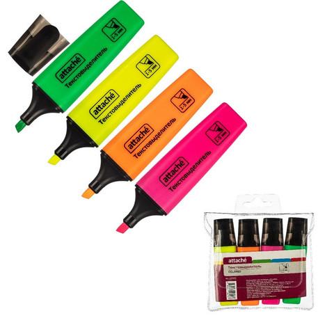 Набор текстовыделителей Attache Colored (толщина линии 1-5 мм, 4 цвета)