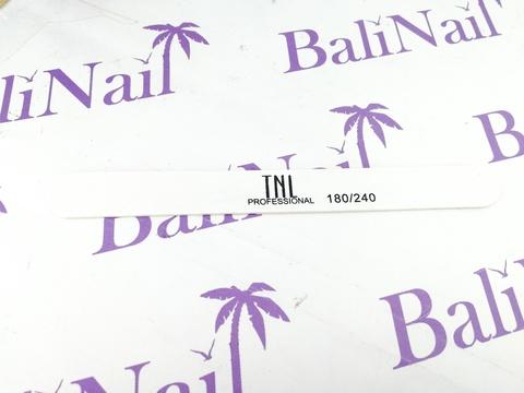 Пилка для ногтей тонкая 180/240 улучшенное качество (белая) (деревянная основа)