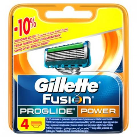Сменные кассеты для бритья FUSION PROGLIDE POWER 4шт