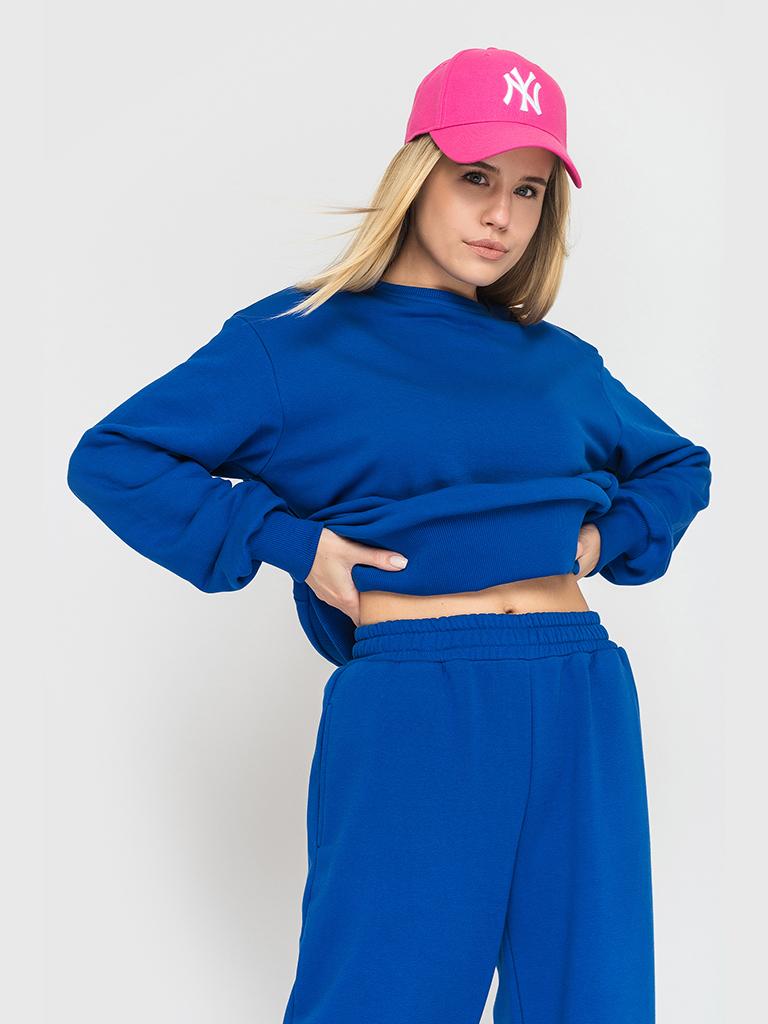 Костюм трикотажный синий YOS от украинского бренда Your Own Style