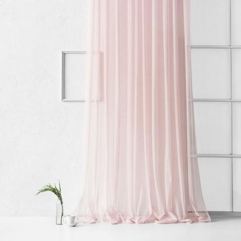 Тюль из сетки соты Гретель розовый