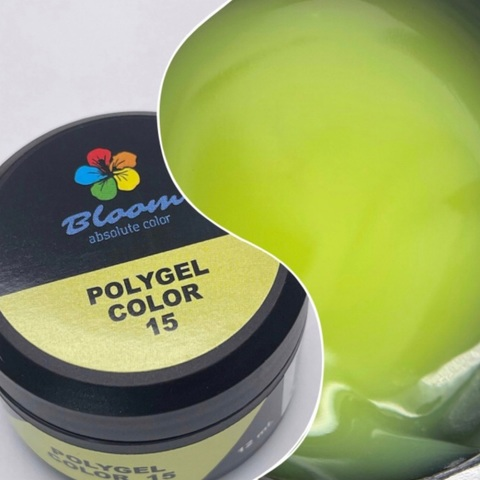 Bloom Полигель№15 12 гр неоново-зелёный