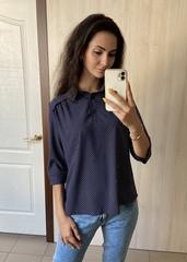 Бьянка. Молодіжна блуза вільного крою. Синій горох