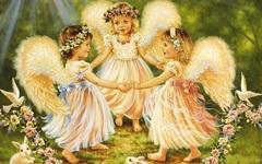 Алмазная Мозаика + Багет 30x40 Танец ангелов