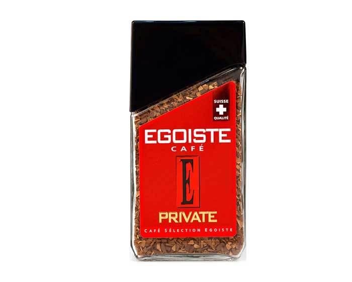 Кофе растворимый Egoiste Private, 100 г стеклянная банка