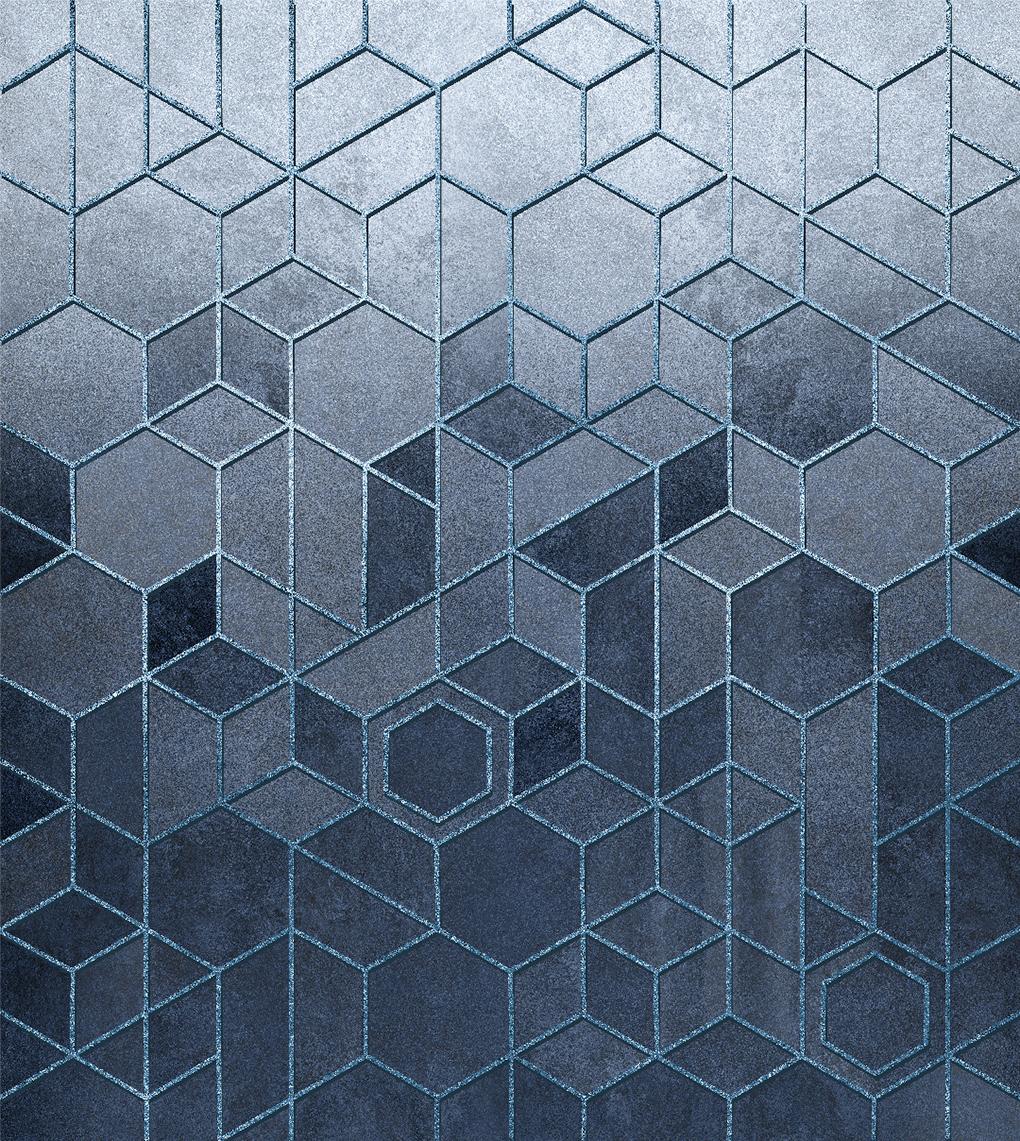 Кубы серо-голубые
