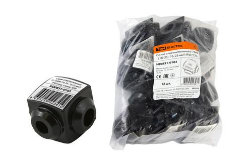 Сжим ответвительный У-734М (16-35 : 16-25 мм2) IP20 инд. стикер TDM