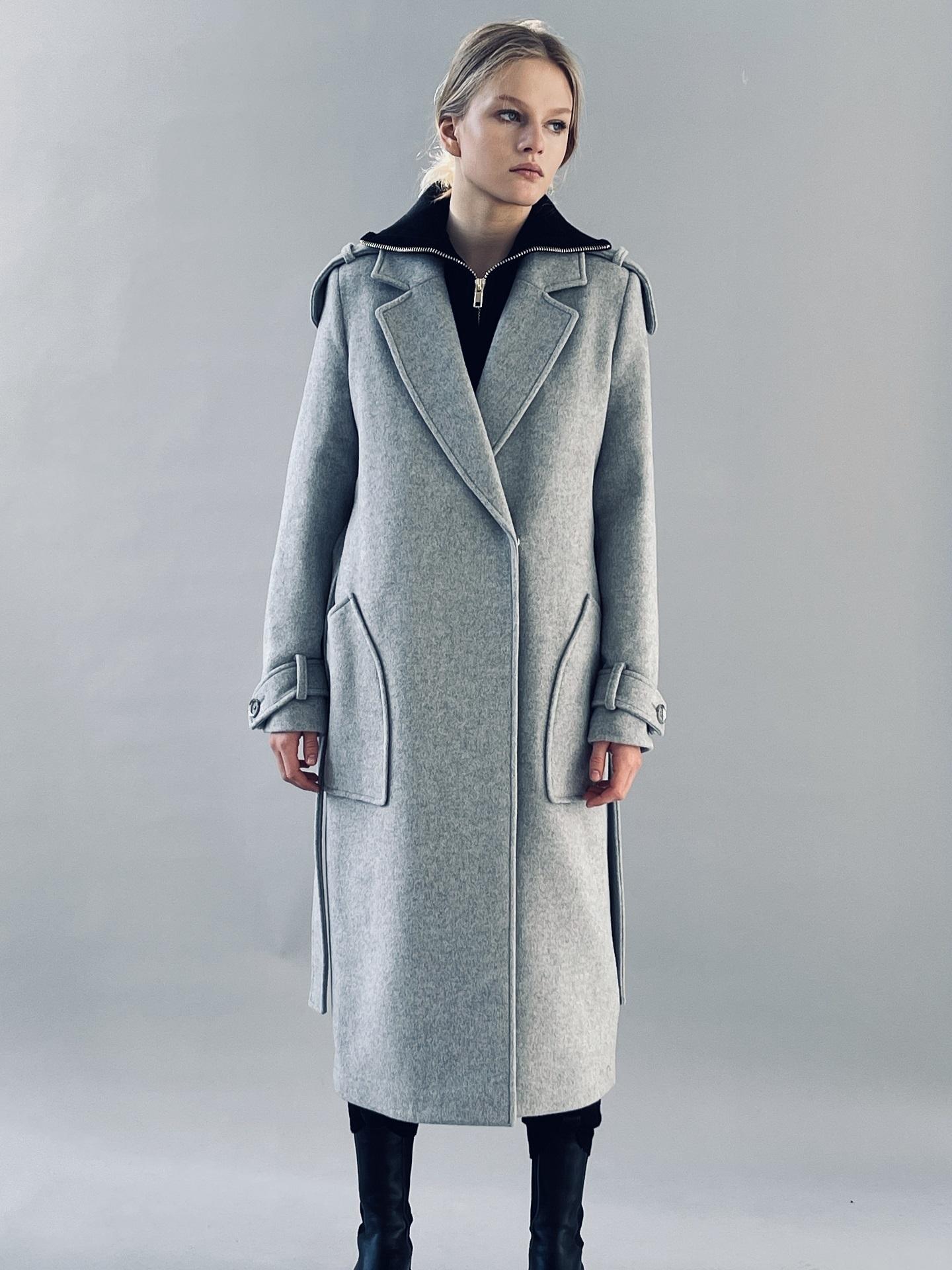 Пальто, QUARKS, 667 (серый агат)