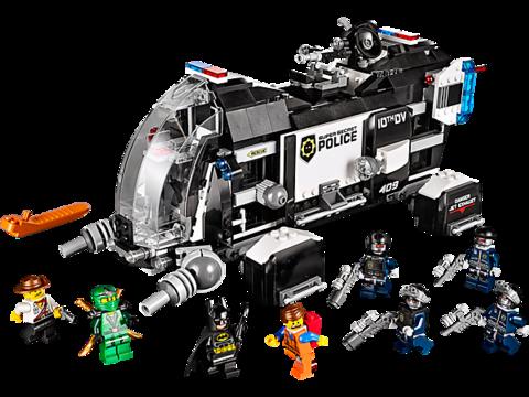 LEGO Movie: Сверхсекретный десантный корабль полиции 70815 — Super Secret Police Dropship — Лего Муви Фильм
