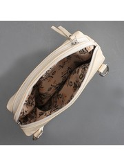 Бежевая поясная сумка