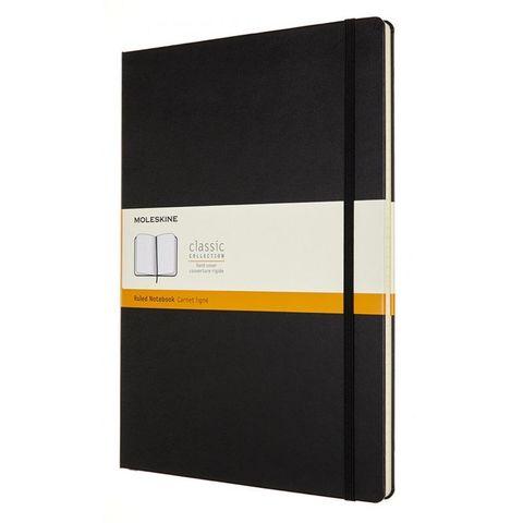 Блокнот Moleskine CLASSIC QP110 A4 192стр. линейка твердая обложка черный