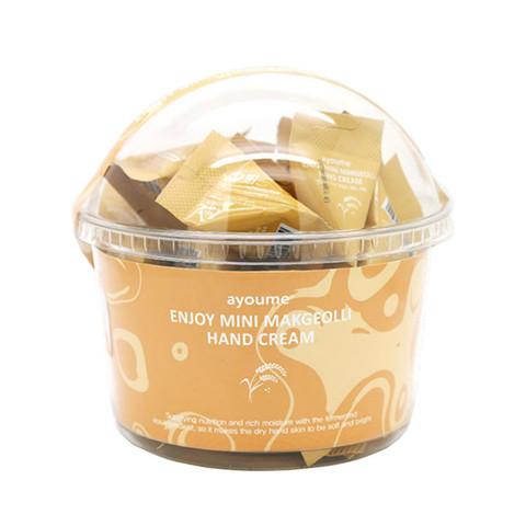 AyoumeEnjoy Mini Makgeolli Hand Cream Крем для рук с рисовым вином макколи в пирамидках