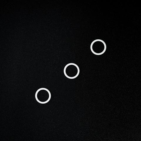 Кольцо для бретели белое 10 мм