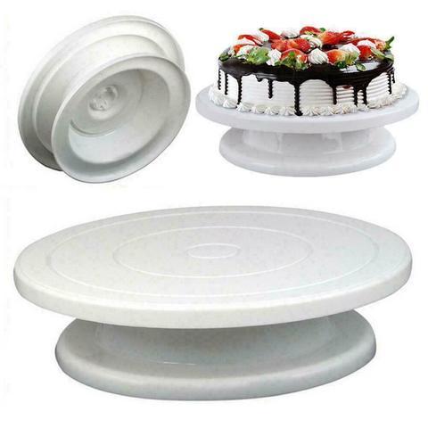 Столик поворотный, подставка для торта, D=32см H7 (цвет микс)