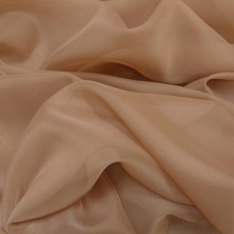 Ткань вуаль однотонная для штор - кофе с молоком. Ш-300 см. Арт. -SH 52A