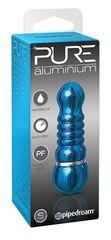 Голубой аллюминиевый вибратор BLUE SMALL - 7,5 см.