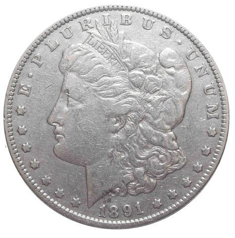 1 доллар 1891 США (Морган). VF-XF