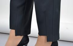 Мальта. Жіночі класичні брюки великих розмірів. Чорний.