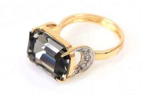 Кольцо с позолотой Шквал