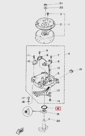 Кольцо уплотнительное для лодочного мотора T5 Sea-PRO (5-16)