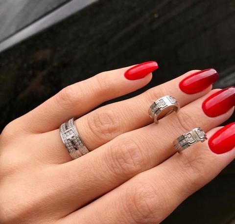 Комплект Tiffany&Co Pavé Diamond