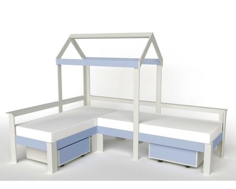 Кровать-домик АВАРА-1 с ящиками правая