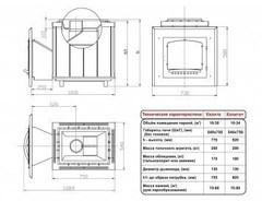 Печь Калита (Дверка - чугунная, с панорамным стеклом, облицовка - талькохлорит)